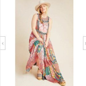 Anthropologie Alessandra Boho Beaded Maxi Dress